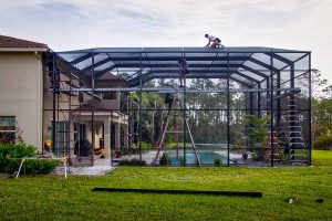 Types of Pool Enclosure Screen Materials in Fort Myers, Florida