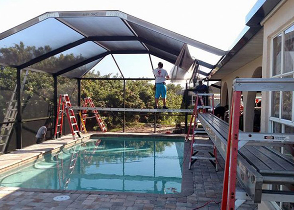 Florida Screen Enclosures Pool Lanai Screen Fabri Tech