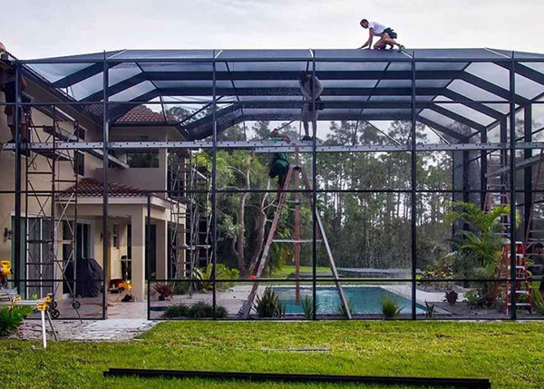 Florida Screen Enclosures Pool Amp Lanai Screen Fabri Tech